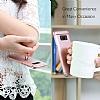 Eiroo Ring Fit Samsung Galaxy Note 8 Selfie Yüzüklü Silver Rubber Kılıf - Resim 1