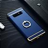 Eiroo Ring Fit Samsung Galaxy Note 8 Selfie Yüzüklü Lacivert Rubber Kılıf - Resim 1