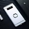 Eiroo Ring Fit Samsung Galaxy Note 8 Selfie Yüzüklü Silver Rubber Kılıf - Resim 6