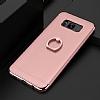 Eiroo Ring Fit Samsung Galaxy S8 Plus Selfie Yüzüklü Rose Gold Rubber Kılıf - Resim 1