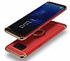 Eiroo Ring Fit Samsung Galaxy S8 Plus Selfie Yüzüklü Kırmızı Rubber Kılıf - Resim 2