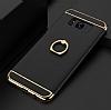 Eiroo Ring Fit Samsung Galaxy S8 Plus Selfie Yüzüklü Siyah Rubber Kılıf - Resim 1