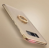 Eiroo Ring Fit Samsung Galaxy S8 Selfie Yüzüklü Gold Rubber Kılıf - Resim 4