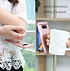 Eiroo Ring Fit Samsung Galaxy S8 Selfie Yüzüklü Lacivert Rubber Kılıf - Resim 9