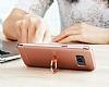 Eiroo Ring Fit Samsung Galaxy S8 Selfie Yüzüklü Lacivert Rubber Kılıf - Resim 8