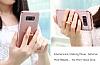 Eiroo Ring Fit Samsung Galaxy S8 Selfie Yüzüklü Gold Rubber Kılıf - Resim 11
