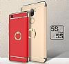 Eiroo Ring Fit Xiaomi Mi 5s Plus Selfie Yüzüklü Gold Rubber Kılıf - Resim 1