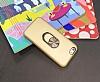 Eiroo Ring Fold Samsung Galaxy A7 2018 Standlı Ultra Koruma Gold Kılıf - Resim 2