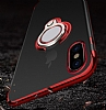 Eiroo Ring Laser iPhone 6 / 6S Selfie Yüzüklü Kırmızı Silikon Kılıf - Resim 8