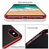 Eiroo Ring Laser iPhone 7 / 8 Selfie Yüzüklü Gold Silikon Kılıf - Resim 1