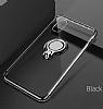 Eiroo Ring Laser iPhone 7 / 8 Selfie Yüzüklü Gold Silikon Kılıf - Resim 4