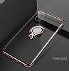 Eiroo Ring Laser iPhone 7 Plus / 8 Plus Selfie Yüzüklü Gold Silikon Kılıf - Resim 7