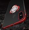 Eiroo Ring Laser iPhone 7 Plus / 8 Plus Selfie Yüzüklü Kırmızı Silikon Kılıf - Resim 8