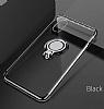 Eiroo Ring Laser iPhone 7 Plus / 8 Plus Selfie Yüzüklü Kırmızı Silikon Kılıf - Resim 4