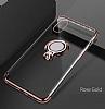 Eiroo Ring Laser iPhone X / XS Selfie Yüzüklü Siyah Silikon Kılıf - Resim 7