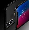 Eiroo Ring Laser iPhone X / XS Selfie Yüzüklü Siyah Silikon Kılıf - Resim 3