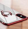 Eiroo Ring Laser iPhone X Selfie Yüzüklü Gold Silikon Kılıf - Resim 6