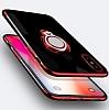 Eiroo Ring Laser Samsung Galaxy J7 Prime Selfie Yüzüklü Siyah Silikon Kılıf - Resim 6