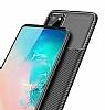 Eiroo Rugged Carbon Samsung Galaxy S20 Siyah Silikon Kılıf - Resim 5