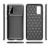 Eiroo Rugged Carbon Samsung Galaxy S20 Siyah Silikon Kılıf - Resim 7