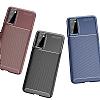 Eiroo Rugged Carbon Samsung Galaxy S20 Siyah Silikon Kılıf - Resim 8