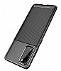 Eiroo Rugged Carbon Samsung Galaxy S20 Siyah Silikon Kılıf - Resim 4