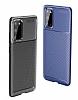 Eiroo Rugged Carbon Samsung Galaxy S20 Siyah Silikon Kılıf - Resim 1