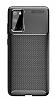 Eiroo Rugged Carbon Samsung Galaxy S20 Siyah Silikon Kılıf - Resim 2