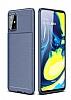 Eiroo Rugged Samsung Galaxy A71 Lacivert Silikon Kılıf