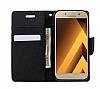Eiroo Samsung Galaxy A3 2017 Standlı Cüzdanlı Pembe Deri Kılıf - Resim 2