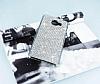 Eiroo Samsung Galaxy A5 2016 Taşlı Silver Rubber Kılıf - Resim 2
