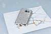 Eiroo Samsung Galaxy A5 2017 Taşlı Silver Silikon Kılıf - Resim 1