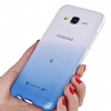 Eiroo Samsung Galaxy A8 2018 Geçişli Pembe Rubber Kılıf - Resim 1