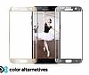 Eiroo Samsung Galaxy C7 Pro Curve Tempered Glass Full Gold Cam Ekran Koruyucu - Resim 2