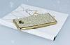 Eiroo Samsung Galaxy C9 Pro Taşlı Gold Silikon Kılıf - Resim 2