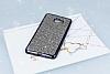 Eiroo Samsung Galaxy C9 Pro Taşlı Siyah Silikon Kılıf - Resim 1