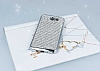 Eiroo Samsung Galaxy J5 2017 Taşlı Silver Silikon Kılıf - Resim 1