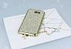 Eiroo Samsung Galaxy J5 2017 Taşlı Gold Silikon Kılıf - Resim 1