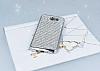Eiroo Samsung Galaxy J7 2017 Taşlı Silver Silikon Kılıf - Resim 1