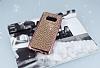 Eiroo Samsung Galaxy S8 Plus Taşlı Rose Gold Silikon Kılıf - Resim 2