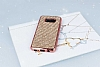 Eiroo Samsung Galaxy S8 Taşlı Rose Gold Silikon Kılıf - Resim 1