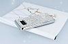 Eiroo Samsung Galaxy S8 Taşlı Silver Silikon Kılıf - Resim 2