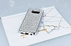 Eiroo Samsung Galaxy S8 Taşlı Silver Silikon Kılıf - Resim 1