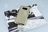Eiroo Samsung Galaxy S8 Taşlı Gold Silikon Kılıf - Resim 1
