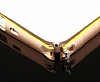 Eiroo Samsung N7505 Galaxy Note 3 Neo Gold Çizgili Round Metal Bumper Çerçeve Rose Gold Kılıf - Resim 1