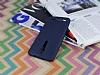 Asus ZenFone 2 Deri Desenli Ultra İnce Lacivert Silikon Kılıf - Resim 2