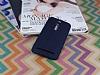 Asus ZenFone 2 Deri Desenli Ultra İnce Lacivert Silikon Kılıf - Resim 1