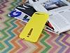 Asus ZenFone 2 Deri Desenli Ultra İnce Sarı Silikon Kılıf - Resim 2