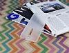 Asus ZenFone 2 Deri Desenli Ultra İnce Şeffaf Beyaz Silikon Kılıf - Resim 2