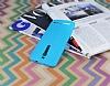 Asus ZenFone 2 Deri Desenli Ultra İnce Mavi Silikon Kılıf - Resim 2